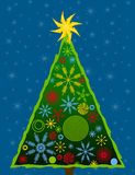 Abstract Christmas Tree Card 3 stock image