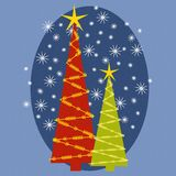Abstract Christmas Tree Card 3 Royalty Free Stock Images