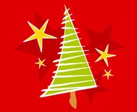 Abstract Christmas Tree Card Royalty Free Stock Photography