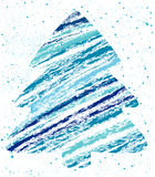 Abstract christmas tree chalk drawing Royalty Free Stock Image