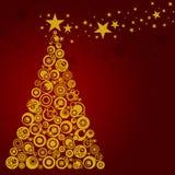 Abstract Christmas Tree Circles Stars Hearts Royalty Free Stock Image