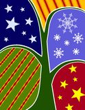 Abstract Christmas Tree Collage Card royalty free illustration