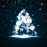 Abstract Christmas tree Royalty Free Stock Photo