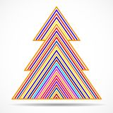 Abstract christmas tree of colorful lines. Vector illustration. Eps 10 vector illustration