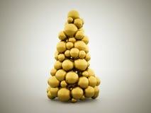 Abstract christmas tree concept Stock Photos