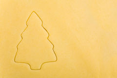 Abstract christmas tree on cookie Stock Photos