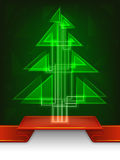 Abstract christmas tree design with shiny triangles Stock Photography