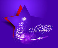 Abstract christmas tree design Royalty Free Stock Image
