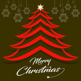 Abstract Christmas tree design with text style. Vector illustration Royalty Free Stock Photos