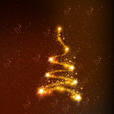 Abstract christmas tree. Easy all editable Stock Photo