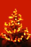Abstract christmas tree formed by blurred lights Stock Photo