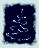 Abstract Christmas tree in frame. EPS10 vector. Illustration Stock Images