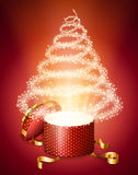 Abstract christmas tree from gift box Stock Images