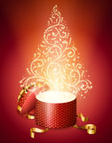 Abstract christmas tree from gift box Royalty Free Stock Images