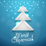 Abstract Christmas tree with glowing snowflakes Stock Photography