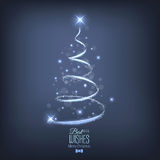 Abstract Christmas tree from ligh Stock Photo