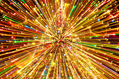 Abstract Christmas tree light. Abstract Christmas tree decoration with colorful lights on Christmas Eve Royalty Free Stock Photos