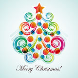 Abstract christmas tree on light background. Royalty Free Stock Images