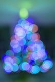Abstract christmas tree light bokeh on for background. Colorful circles abstract christmas tree light bokeh for holidays background Royalty Free Stock Photography