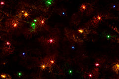 Abstract of Christmas Tree Lights Stock Image