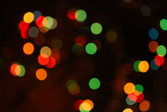 Abstract christmas tree lights. In the dark Stock Photography