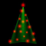 Abstract christmas tree made of green triangles.   greeting card background Royalty Free Stock Photos