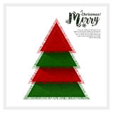 Abstract Christmas tree made from of pieces fabric. Vector. Royalty Free Stock Photography