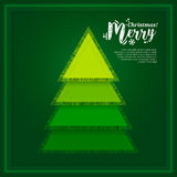 Abstract Christmas tree made from of pieces fabric. Vector. Stock Image