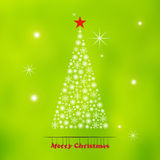 Abstract Christmas tree made from snowflakes Royalty Free Stock Photos
