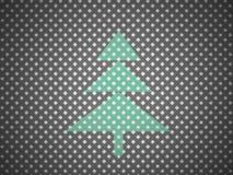 Abstract christmas tree on mash Stock Photo