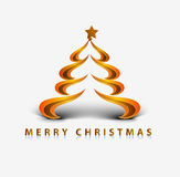 Abstract christmas tree. Modern abstract christmas tree background, eps10 vector illustration Stock Photography