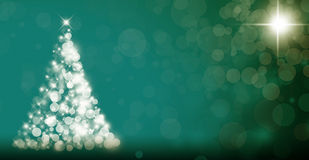 Abstract Christmas Tree On Dark Background Stock Images