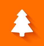 Abstract christmas tree on orange background Royalty Free Stock Photography