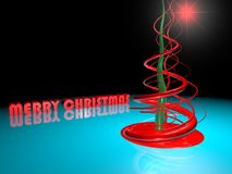 Abstract Christmas tree over blue Royalty Free Stock Photo