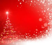 Abstract Christmas tree on red Stock Image
