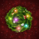 Abstract Christmas Tree Ring Stock Images