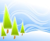 Abstract Christmas Tree Scene Royalty Free Stock Image