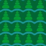 Abstract christmas tree seamless geometric background. stock illustration