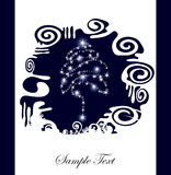 Abstract Christmas tree silhouette Royalty Free Stock Photography