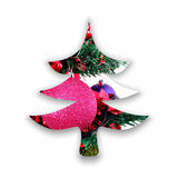 Abstract Christmas tree silhouette Royalty Free Stock Image
