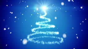 Abstract Christmas tree stock video footage