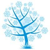 Abstract Christmas tree snowflakes Royalty Free Stock Image