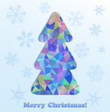 Abstract christmas tree and snowflakes Royalty Free Stock Photography