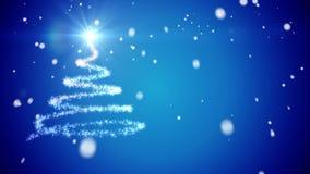 Abstract Christmas tree stock video
