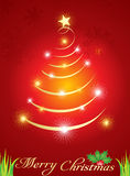 Abstract  christmas tree with sparkle Royalty Free Stock Images