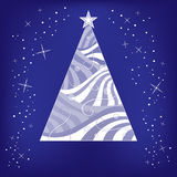 Abstract Christmas tree and stars background Royalty Free Stock Photography