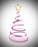 Abstract christmas tree tinsel made Stock Image