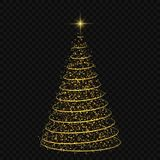 Christmas tree Vector illustration. Abstract Christmas tree on transparent background. symbol of Happy New Year Stock Photos