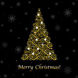 Abstract Christmas Tree. Vector Royalty Free Stock Photography