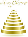 Abstract Christmas tree. Vector Illustration Royalty Free Stock Photo
